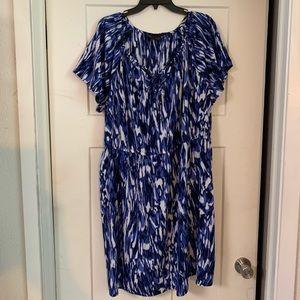 Plus size 3x silky knee length dress 👗
